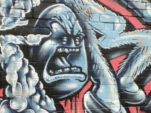 Street art and graffiti at Sevenoaks Park