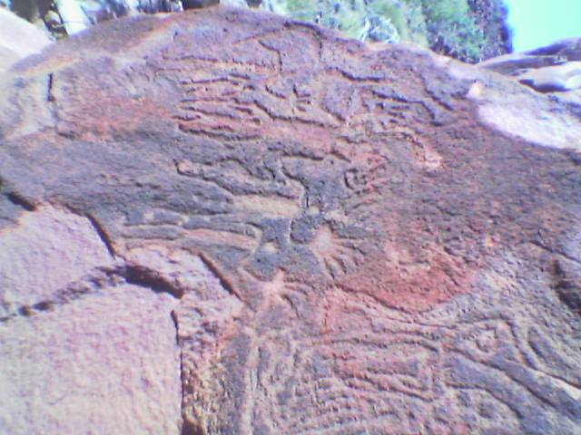 big hands, aboriginal rock art, burrup WA 2005