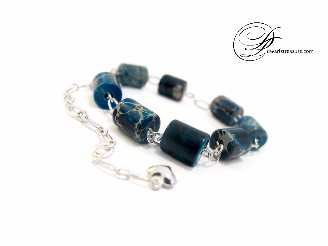 unique blue jasper bracelet