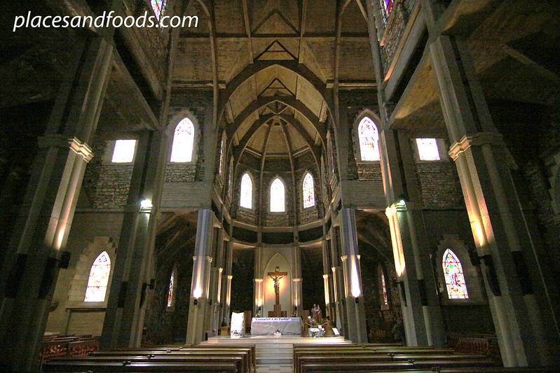 Catedral de San Carlos de Bariloche interior wide angle