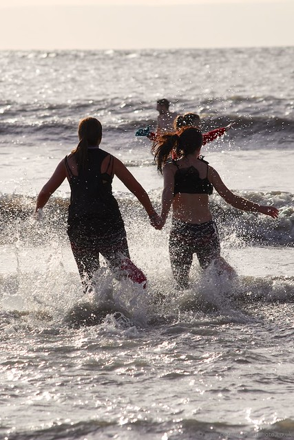 Porthcawl Christmas Swim 2014 20141225_499