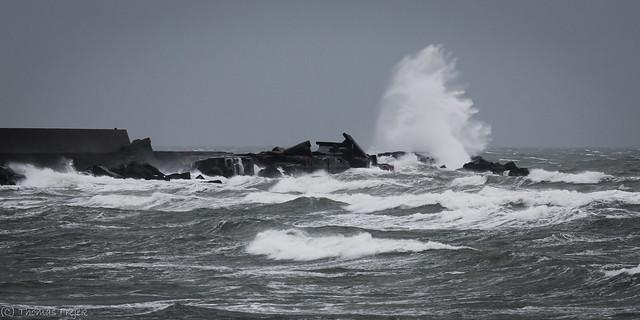 The rough North Sea