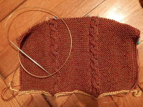 коричневый двусторонний шарф начала