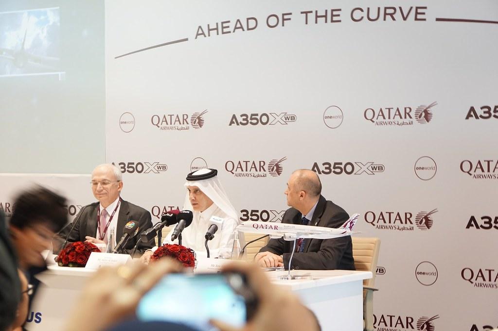 Qatar Airways  Launch of the Airbus A350XWB -001