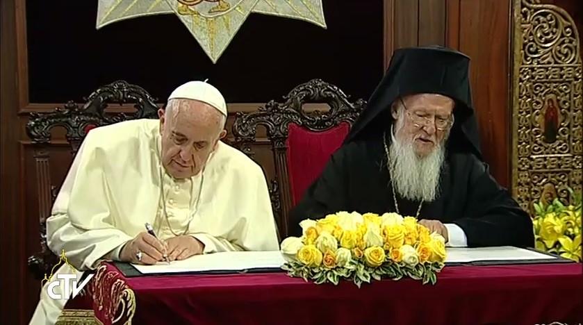Tuyên Bố Chung Của Đức Giáo Hoàng Phanxicô Và Thượng Phụ Bartolomeo I - 2014