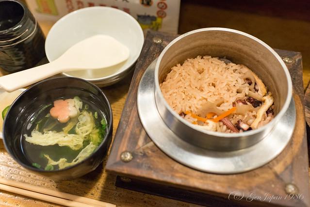 蔵 タコセット定食