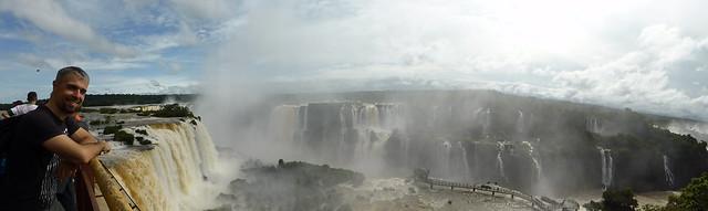 Javi en las Cataratas Do Iguaçu (Brasil)
