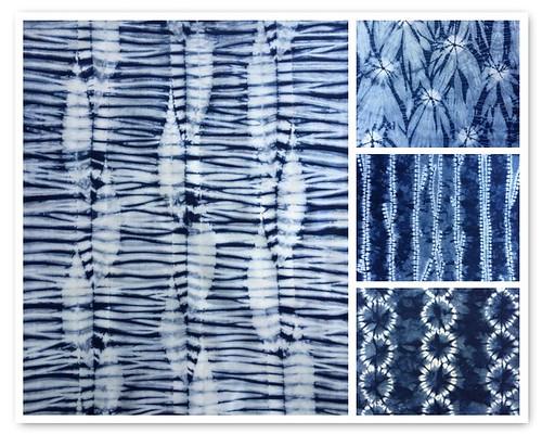 Cape Cod Shibori fabric collage
