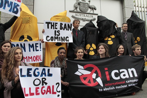 Protest at Australian mission | by International Campaign to Abolish Nuclear Weapons