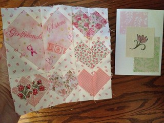 "Girlfriends * Sisters How wonderfully appropriate. I just love it. A third Flickr friend, mimi'sdarlins, joined in with my Quiltin' Babes to make blocks for my Lots of Love"" quilt."