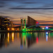 Dusk at Salford Quays by G-WWBB