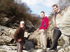 Mike, Ollie, Tim inspecting the gorge from above Image
