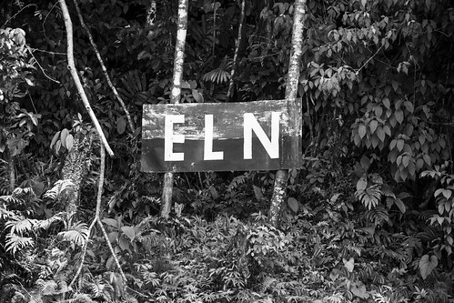 ELN banners are seen for hundreds of miles along the Atrato and San Juan Rivers. Photo: Ramón Campos Iriarte. | by Americas Quarterly