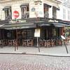 Montmartre. Cobblestones. Café.
