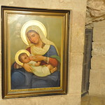 Picture of Mary feeding Jesus in the Milk Grotto, Bethlehem