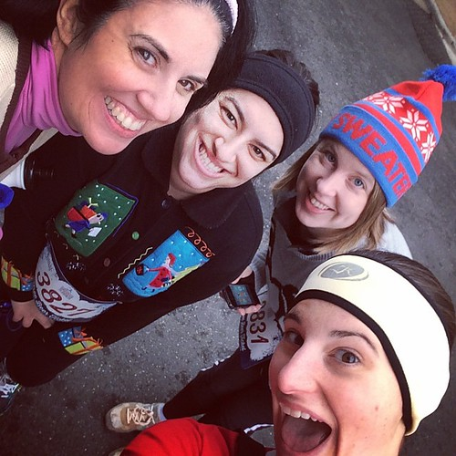 Ugly Sweater 5K selfie! @emilyyahr @jengirard2013 @annemn #runchat #fitfluential