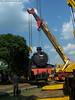 Proses Pengangkatan dan Pemindahan Lokomotif D 5106