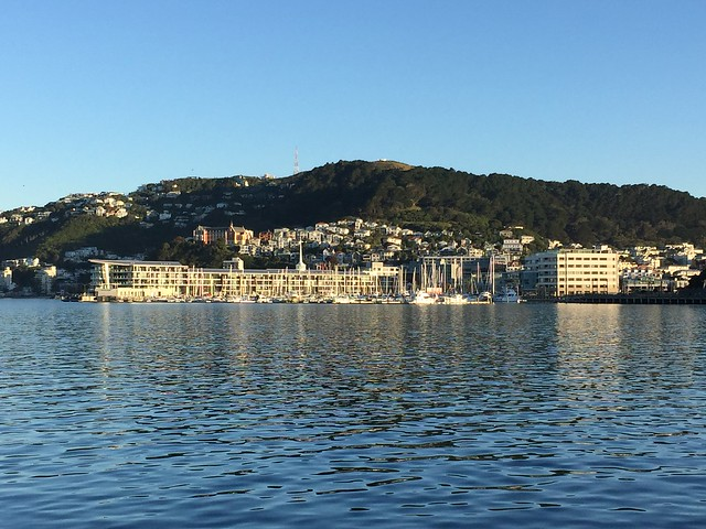 A view of Wellington's harbor