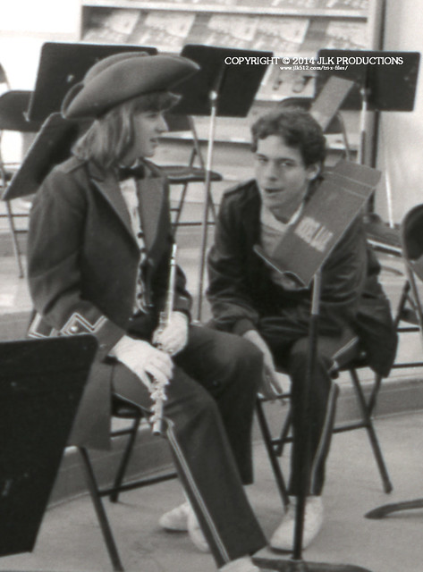 Tri-X Files 84_30.13a: Pam and Keith in the Band Room