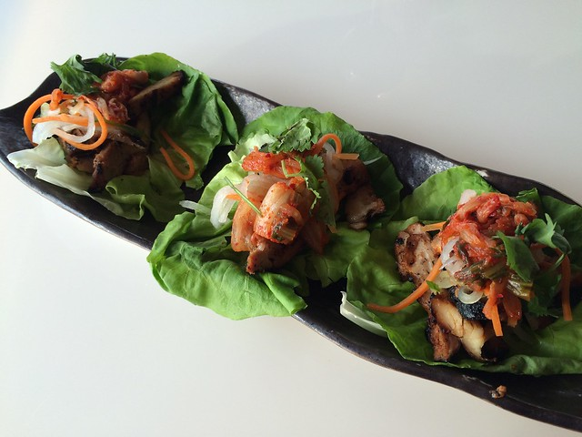 Roasted chicken lettuce wraps - POV
