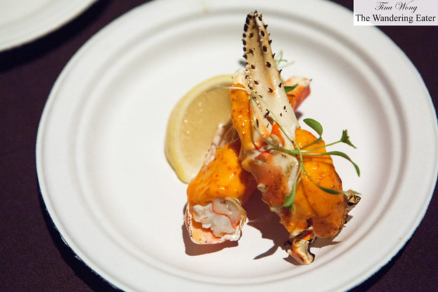 Spicy king crab with tobanjan and micro cilantro by Morimoto