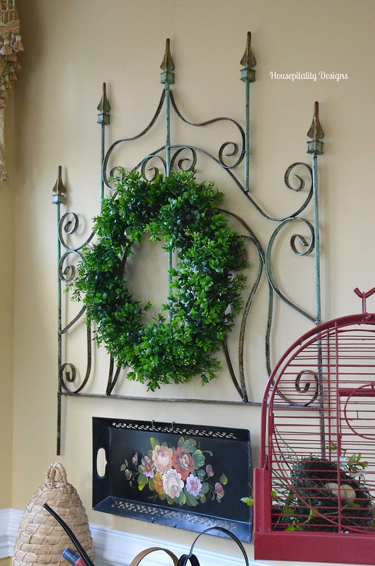 Iron Gate Wall Decor and Vintage Garden Items