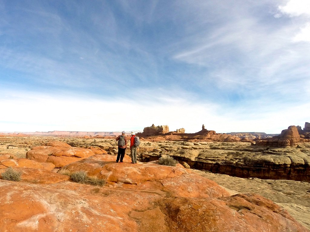 Grant and Glen - Peekaboo Trail in Canyonlands National Park