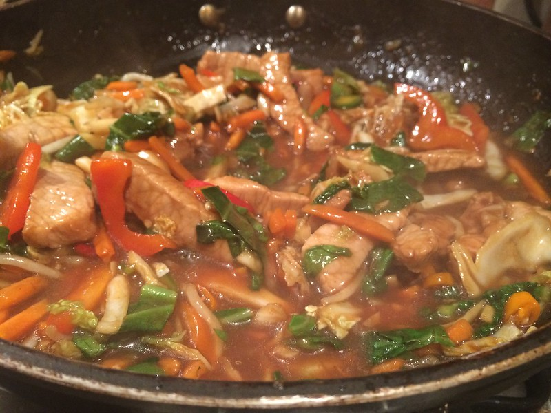 Chinese Stir Fried Pork with Oyster sauce : Reduce