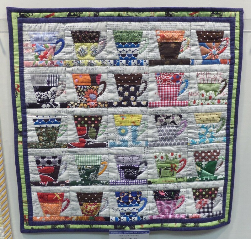 Small quilt -  tea cups