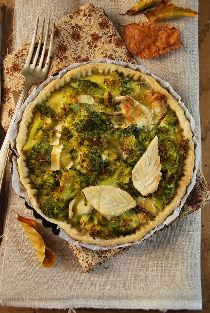 Tarte au fromage de chèvre et brocoli