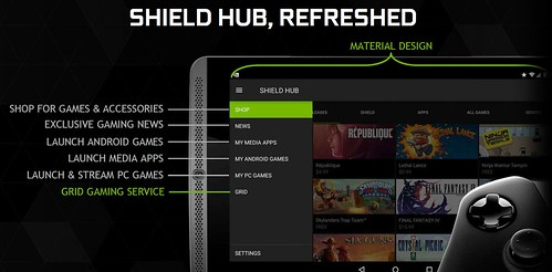 Nvidia Shireld Tablete Android 5.0 / Grid