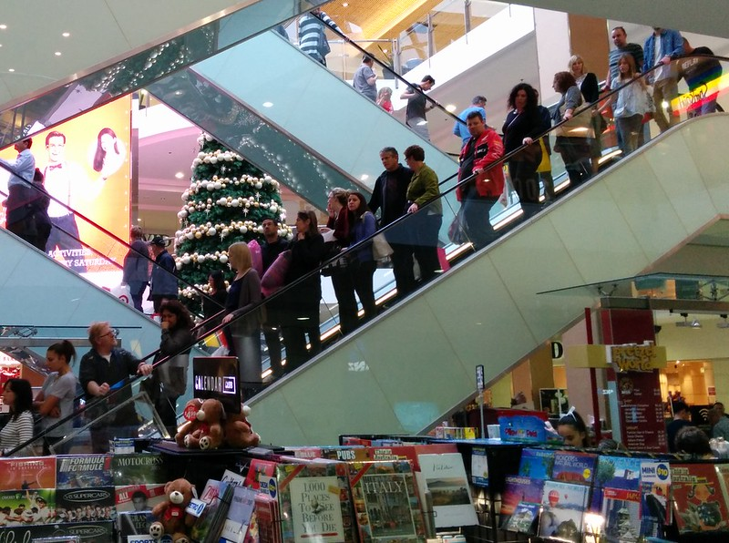 Southland shopping centre: Christmas crowds
