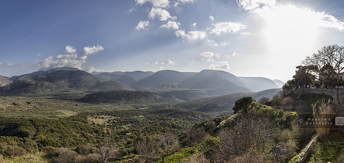blue sky sun green yellow peace afternoon pano panoramic greece monastery valley sight spirituality hdr tranquillity ortodox helicon hosios μονή massimomalvestiogalleriatrips δαφνίου massimomalvestiophotography