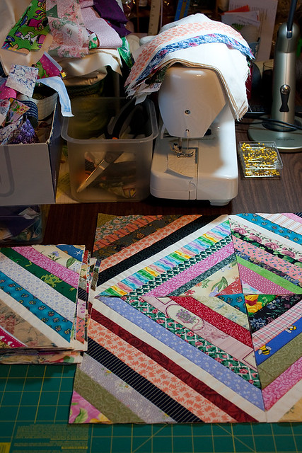 Scrappy String Quilt