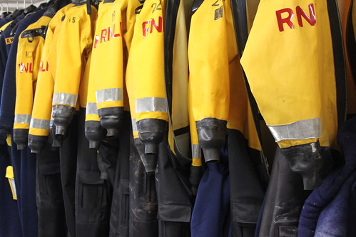 The inshore lifeboat crew's drysuits