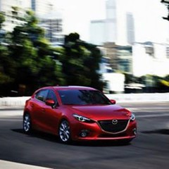 automobile, family car, vehicle, mazda, mazda3, mid-size car, land vehicle, luxury vehicle,