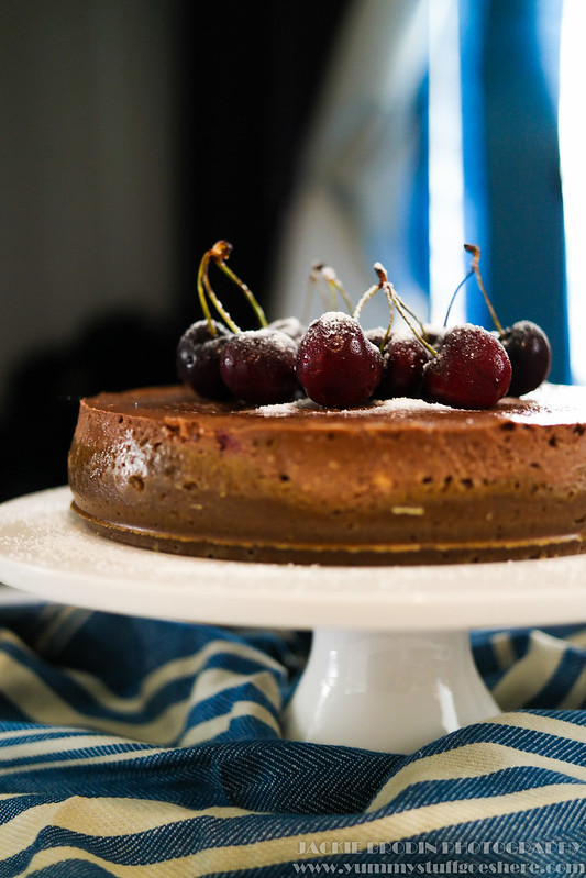 Choc cherry cheesecake