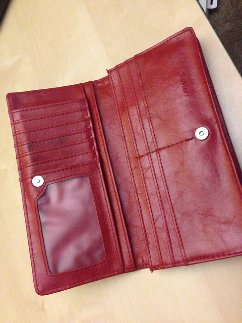 Womens Red Wallet