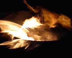 smoke, light, fire, darkness, campfire,