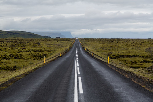 Ring road through Lava field