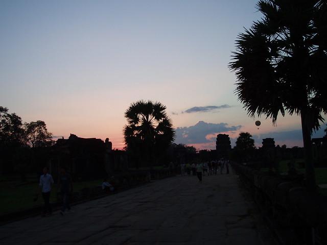 Ангкор Ват, закат