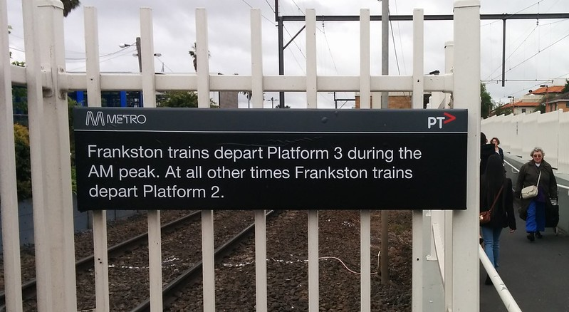 "When to use platform 3? During ""AM peak"", whatever that means."