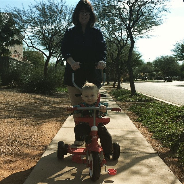 Trike riding with grandma! by bartlewife