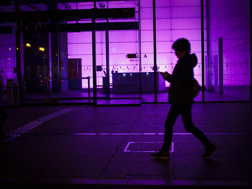 street light sunset silhouette japan night purple candid olympus osaka midosuji omd 御堂筋 em5 25mmf18