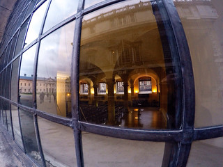 Wide angle with the GoPro showing inside and out of Old Royal Naval College GREENWICH