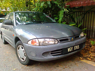 1999 Proton Wira Aeroback 1.5 (Dad's old car, 2012-08-26)