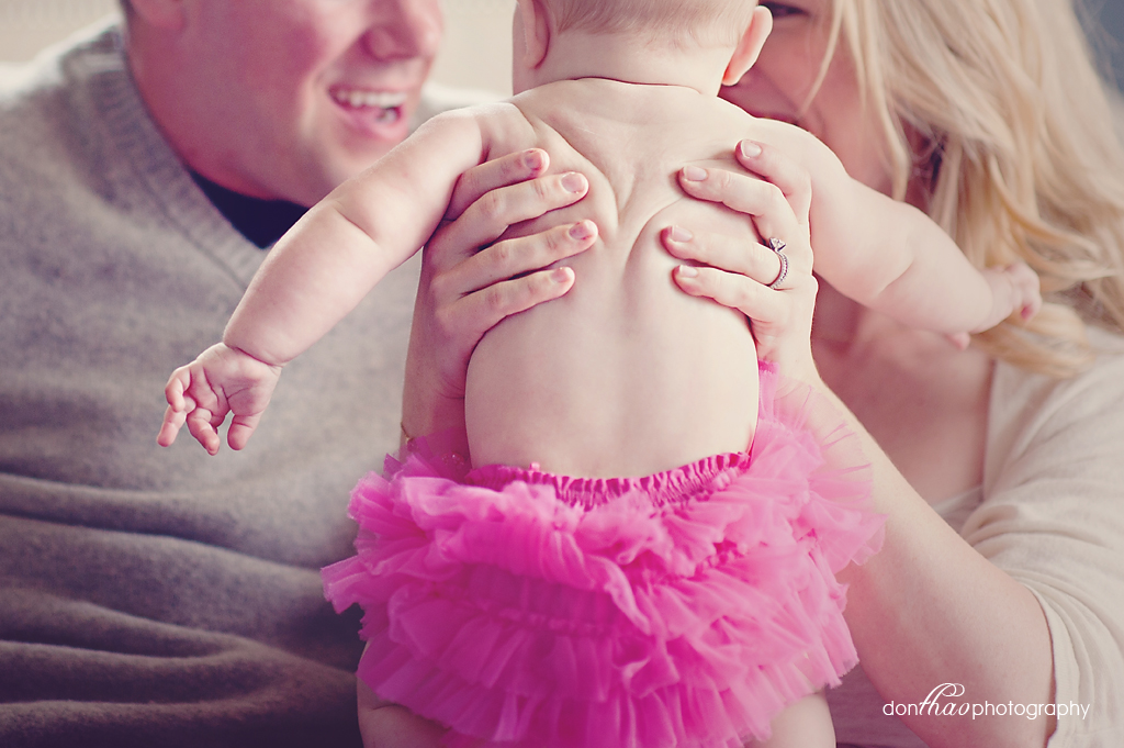 Hudsonville, Michigan baby photographer - smushed baby rolls