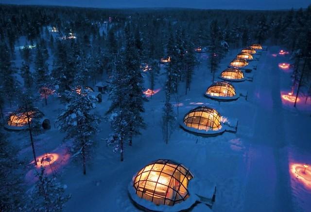 Ignoo Hotel in Kakslauttanen, Finland.