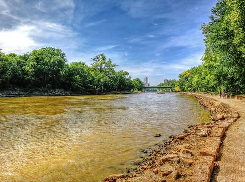 sky cloud canada water river winnipeg manitoba riverwalk