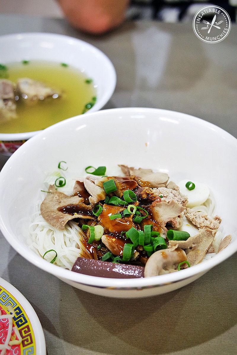 A full bowl of Phnom Penh noodles from Battambang in Cabramatta